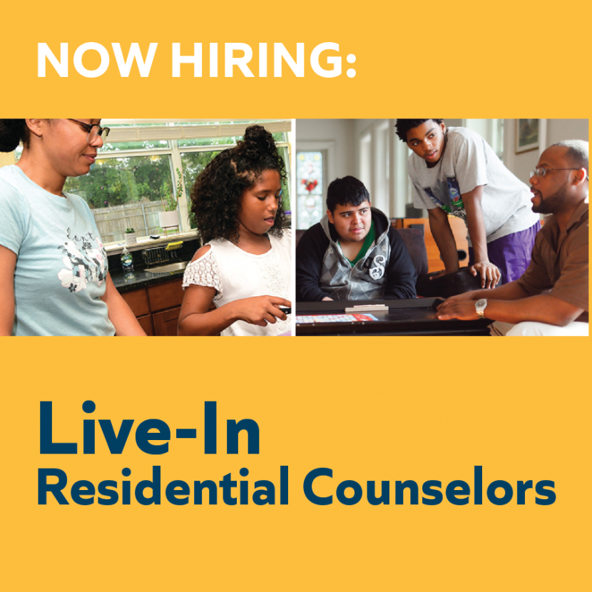 Now Hiring: Live-In Residential Counselors | Multiple Locations 2