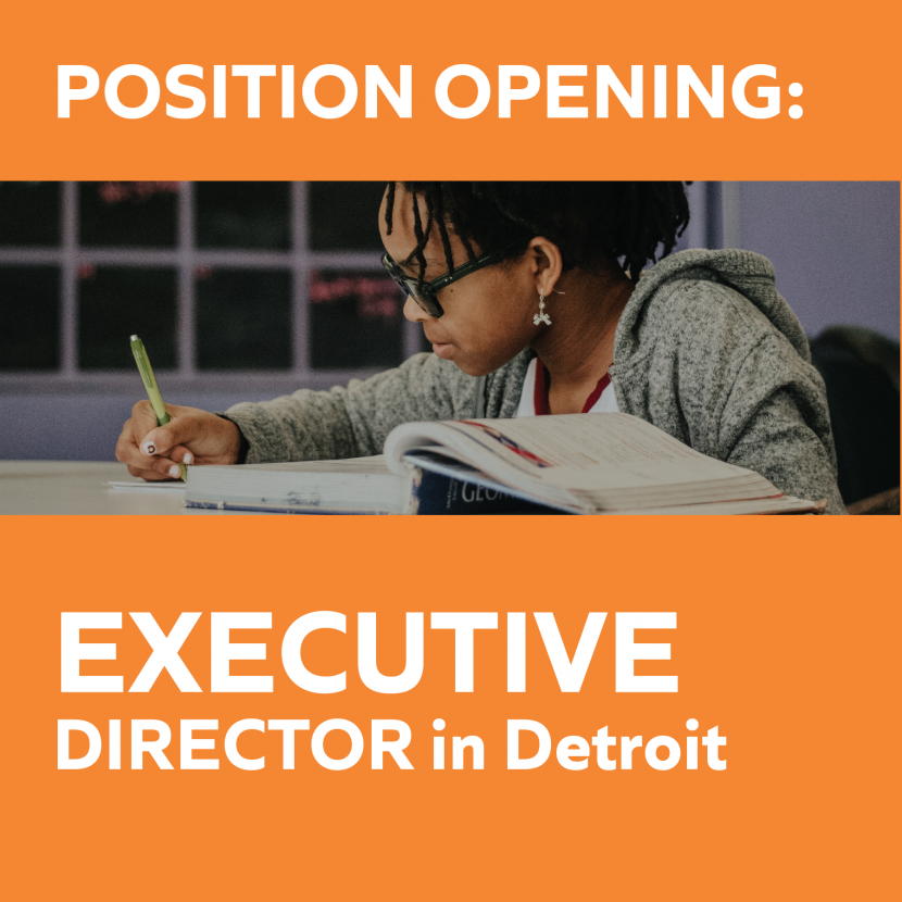 Position Opening: Executive Director | Detroit 2